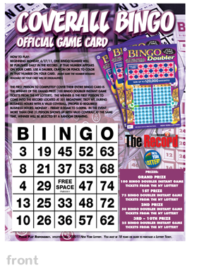 Troy Record Coverall Bingo